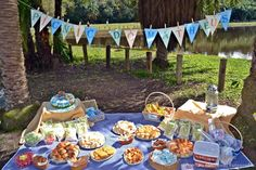 Picnic do theo Park Birthday, Leo Birthday, Picnic Birthday, Birthday Party Themes, Picnic Party Decorations, Super Party, Superhero Party, Baby Party, Event Decor