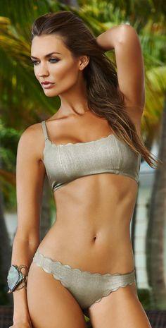 Shop ➡️carla-bikini.com PilyQ Oro Reversible Seamless Wave #Bikini -- 60 Great Bikinis, Swimsuits and Beachwear From The PliyQ Lookbook