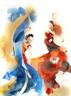 Shop for dance art from the world's greatest living artists. All dance artwork ships within 48 hours and includes a money-back guarantee. Choose your favorite dance designs and purchase them as wall art, home decor, phone cases, tote bags, and more! Watercolor Paintings For Beginners, Watercolor Art, Dance Images, Flamenco Dancers, Art Courses, Dance Art, Silhouette, Art Sketches, Fine Art America