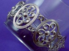 Vintage Heavy Sterling Silver Ornate Lovely by DisorderlyGirl, $95.00