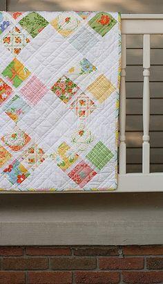 window pane quilt - charm pack
