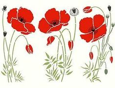 Flower Outline, Flower Art, Hand Embroidery Flowers, Embroidery Patterns, Wild Poppies, Wild Flowers, Paper Mosaic, Stained Glass Patterns, Painting Lessons