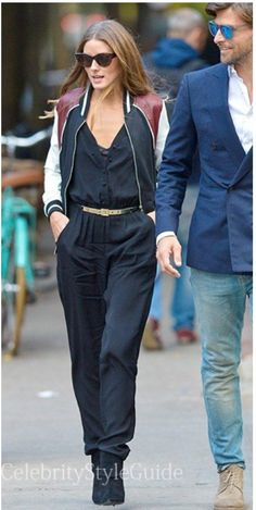 #Olivia #Palermo with black Jumpsuit