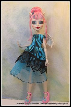 Monster High Doll repaint ooak custom Rochelle Goyle by Fantasy Dolls by Donna Anne