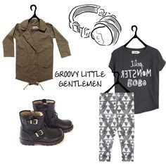 BOYS LOOK !!! Jacket by NuNuNu - T-Shirt by Bobo Choses - Leggins by Diapers & Milk - Boots by MoMiNo