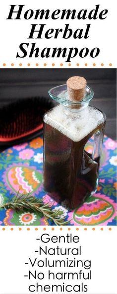 Homemade herbal shampoo recipe - volumizing and safe for no-poo!!