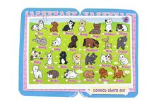 Animagic Rescue Hospital Series 3 -Top row: Tess the pony,  Milo the dog, Bonnie the cat, Honey the hamster, Angus the dog, Whiskers  the cat, Skippy the Cat. second row: Benny the bunny, Holly the cat, Coco the dog, Chestnut the pony, Roxy the dog, Chester the cat. Third row: Misty the cat, Dolly the bunny, Blake the dog, Scamp the dog, Abby the cat, Barney the dog, Snowy the bunny. Last row: Benji the dog, Bertie the Guinea Pig, Chloe the cat, Scout the dog, Bruno the dog, Goldie the pony