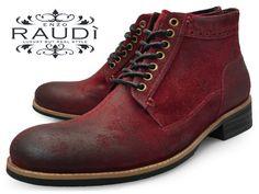 【期間限定価格 6/9 20時まで】RAUDI (ラウディ) 31215 REDメンズ センターシーム ブーツ レッド スエード 【送料無料】【楽天市場】