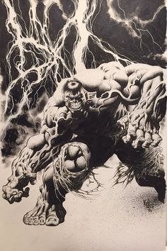 Original Comic Art titled Kyle Hotz The Hulk, located in Jim's Kyle Hotz Comic Art Gallery Marvel Comics Superheroes, Hulk Marvel, Marvel Art, Spiderman, Avengers, Hulk 1, Red Hulk, Dojo, Comic Books Art