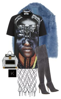 """""""Untitled #3771"""" by kimberlythestylist ❤ liked on Polyvore featuring Fannie Schiavoni, Rochas, Givenchy, Gianvito Rossi and MCM"""