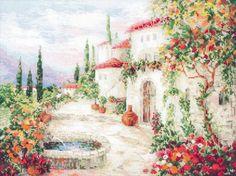 Вышивка У фонтана (Riolis)