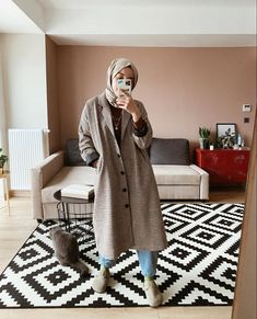 Casual Fall Outfits, Winter Fashion Outfits, Fashion Fall, Autumn Casual, Long Skirt Hijab, Modern Hijab Fashion, Modest Fashion, Mode Hijab, Hijab Outfit
