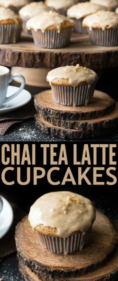 These Chai Tea Latte Cupcakes are deliciously sweet with just a hint of spice, reminiscent of an actual Chai Tea Latte - my favourite coffee house drink. This recipe is super easy as it uses cake mix but you could also use your favourite white cupcake recipe instead.