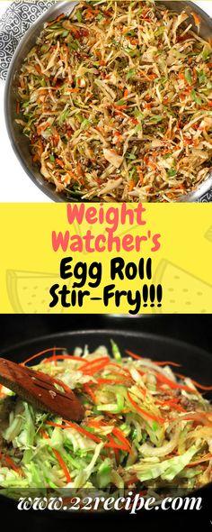 Weight Watcher's Egg Roll Stir-Fry!!! - 22 Recipe