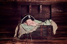 Newborn Photo Prop Baby Boy Pirate Hat by MitziKnitz on Etsy