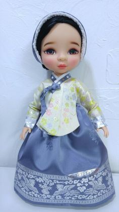 한복 Hanbok : Korean traditional clothes[dress] : Dolls Hanbok #disneydoll #babydoll #hanbok
