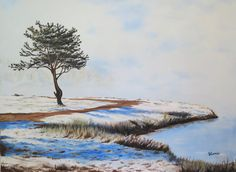 """""""Frosty Fog on Tupper Lake"""" 40""""x30"""" Oil on Gallery-Wrapped Canvas For Sale"""