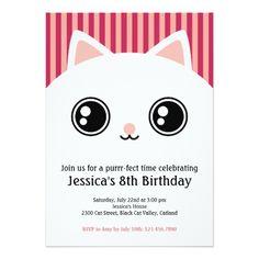 120 Best Cat Birthday Invitations Images Cat Birthday Birthday