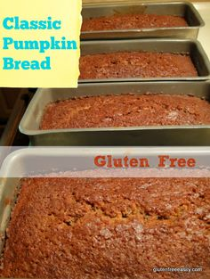 Classic Gluten-Free Pumpkin Bread! Gotta have moist pumpkin bread for Thanksgiving!