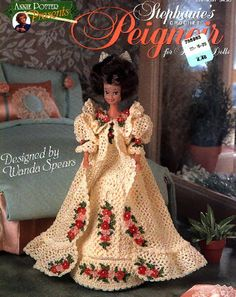 CROCHET: Barbie, Stephanie's Peignoir, pattern http://knits4kids.com/collection-en/library/album-view?aid=26481