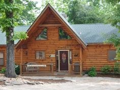 Amazing All Wood Log Cabin Private Hot Tub Fireplace 10 min to Branson Shows