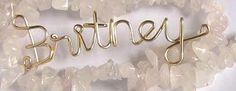 Write Britney with wire