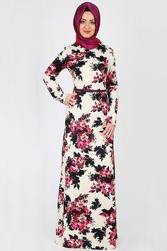 Nilüfer Kamacıoğlu Desenli Revak Elbise