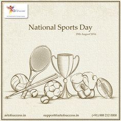 National Sports Day is celebrated in India every year on 29th August. The day is celebrated to honor the legendary Hockey Player, Major Dhyan 'Chand' Singh on his birth anniversary, who made India proud by his extraordinary sporting skills. #sportsday #SportsDay16 #nationalgirlandwom #Rio2016 National Sports National Sports Day #eninsportsday #Olympics Cricket Indian Cricket Team Cricket Fans Association