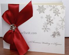 photos of christmas wedding invitations | Joanne's Christmas wedding invitation