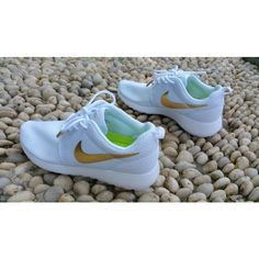 Nike Roshe Run White Gold Womens Mens