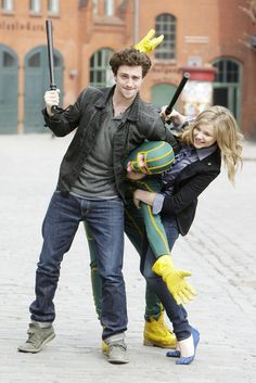 """Just look at how adorable he was with Chloe Moretz when they filmed the first Kick-Ass 