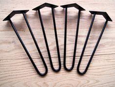 30 Hairpin Legs. 3/8 Diameter Steel EACH by ModarchSupply on Etsy, $18.00