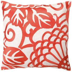 DL Rhein Chrysanthemum Mango Embroidered Pillow