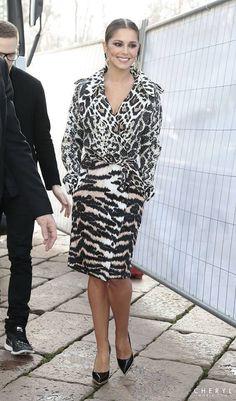 Cheryl arriving at London fashion week February 2014 xoxo