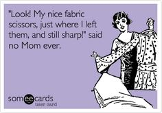 Who doesn't love those illustrated ecards that float around the internet? I've seen so many funny sewing ecards, but often when I want to find them again, I can't. So I went to the Someecards site and below I've compiled for you the best selection of sewing humor I found there. You can click on Read the Rest...