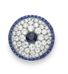 A BELLE EPOQUE SAPPHIRE AND DIAMOND BROOCH, BY CARTIER
