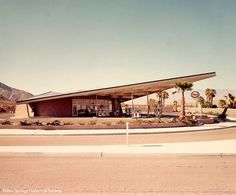 Vintage gas station in Palm Springs, California.