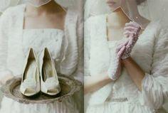 zapatos y guantes de novia vintage