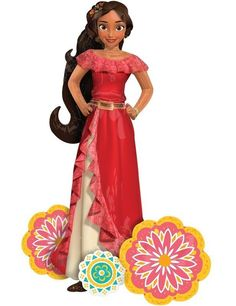 "New Disney Princess Elena of Avalor 54"" Jumbo Airwalker Birthday Party Balloon  