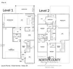 Floor plan 4 at Vista Pointe. new homes in Vista, CA