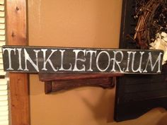 TINKLETORIUM...Bathroom Restroom Funny Primitive Shabby Chic Sign