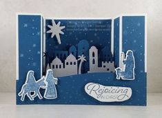 How to create a Bridge or U Fold Fancy Fold Card with VIDEO – Lavender Thoughts Homemade Christmas Cards, Christmas Cards To Make, Xmas Cards, Holiday Cards, Christmas Stuff, Christmas Projects, Greeting Cards, Handmade Card Making, Handmade Birthday Cards