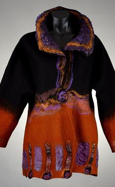 167. Marjolaine Arsenault, Marjolaine's Touch. Wearable art of nuno felt. felting@marjolainestouch.com