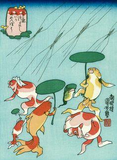 金魚づくし 百物語(1839年頃) 歌川国芳