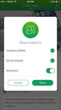 Tickets share