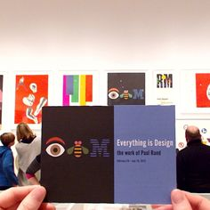 """We're excited for the opening of the @museumofcityny's """"Everything is Design"""" exhibition, celebrating the work of Paul Rand, the designer who created the #IBM logo. Check out the link in our profile for more details."""