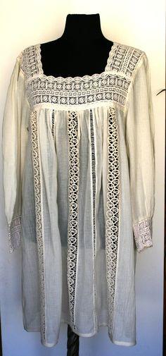SALE White lace summer dress, L size. $69.00, via Etsy.