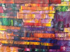 """Kolorbelts"" Abstract Art 26"" x 30"" By Abstractwings - Paul Mason"