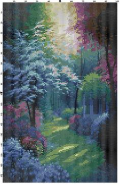 Cross Stitch Pattern Beautiful Secluded by theelegantstitchery, $10.00
