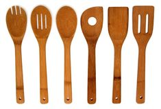 Sweet Home Collection Home Basics Bamboo Kitchen Utensil Set Cooking Spatula, Cooking Utensils Set, Kitchen Utensil Set, Cooking Spoon, Cooking Ribs, Girl Cooking, Fun Cooking, Cooking Tools, Cooking Hacks